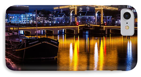 Night Lights On The Amsterdam Canals 3. Holland Phone Case by Jenny Rainbow