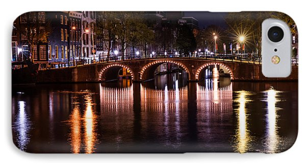 Night Lights On The Amsterdam Canals 4. Holland Phone Case by Jenny Rainbow