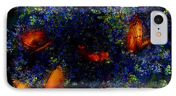 IPhone Case featuring the digital art Night Of The Butterflies by Olga Hamilton