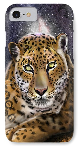 IPhone Case featuring the painting Fourth Of The Big Cat Series - Leopard by Thomas J Herring