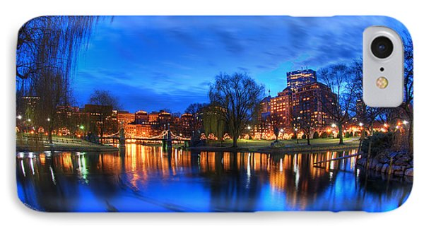 Night On The Lagoon - Boston Public Garden IPhone Case