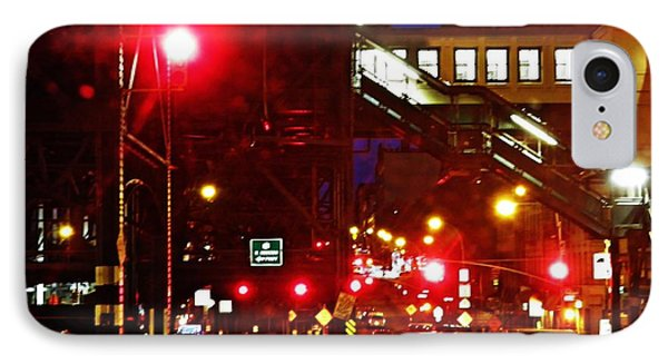 Night On West 125 Street Phone Case by Sarah Loft