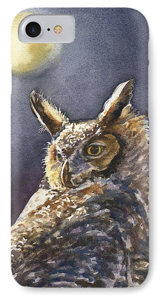 Night Owl IPhone Case by Anne Gifford