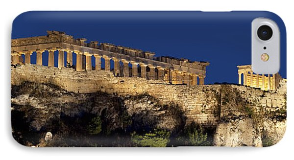 Night Panoramic View Of Acropolis IPhone Case