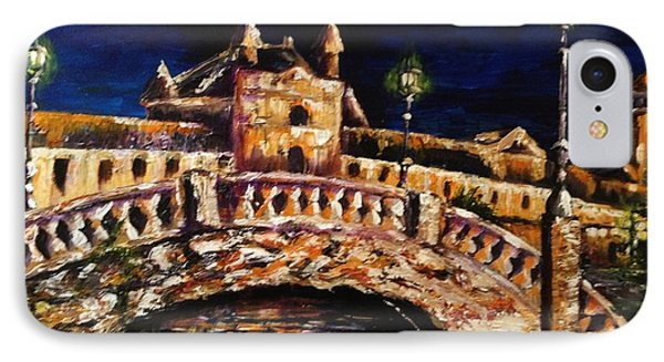 IPhone Case featuring the painting Night Passage by Karen  Ferrand Carroll