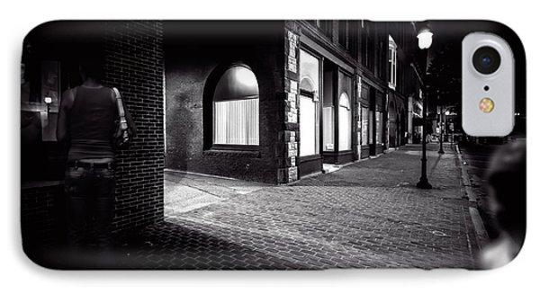 Night People Main Street Phone Case by Bob Orsillo