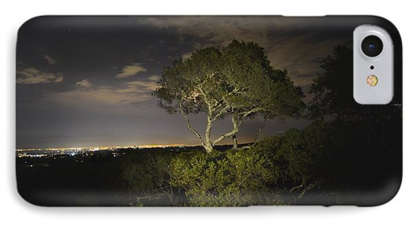Night Glow Of A Tree IPhone Case by Alex King