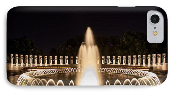 IPhone Case featuring the photograph Night Reflections Wwii Memorial  by Dawn Romine