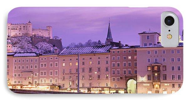 Night Salzburg Austria IPhone Case by Panoramic Images