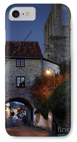 Night Scene In Medieval Town Phone Case by Ladi  Kirn