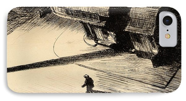 Night Shadows IPhone Case by Edward Hopper