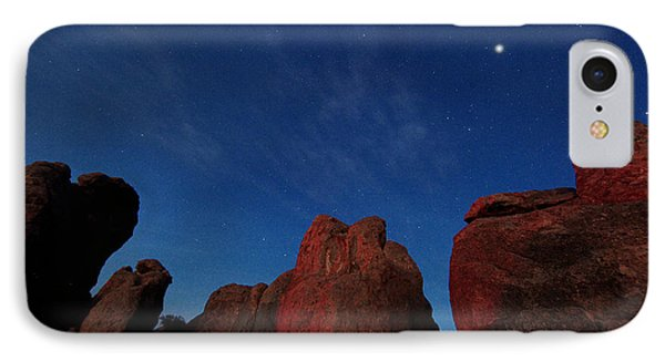 IPhone Case featuring the photograph Night Sky City Of Rocks by Martin Konopacki