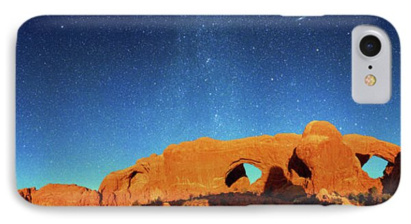 Night Sky Over Arches National Park IPhone Case by Walter Pacholka, Astropics
