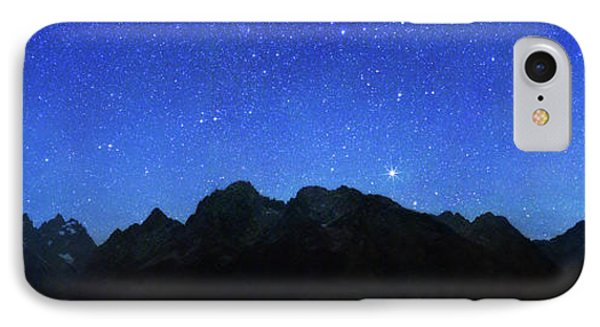 Night Sky Over Grand Teton National Park IPhone Case by Walter Pacholka, Astropics