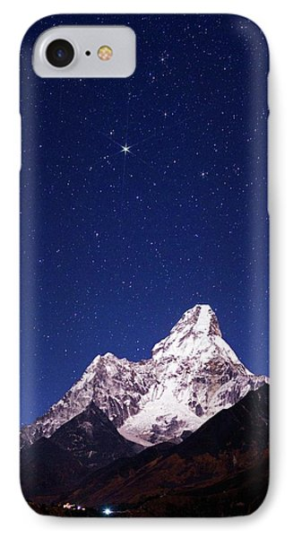 Night Sky Over Mountains IPhone Case