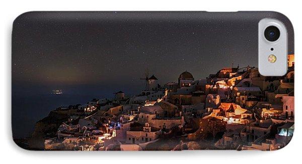 Night Sky Over Oia IPhone Case by Babak Tafreshi