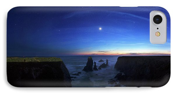 Night Sky Over Port Coton Needles IPhone Case by Laurent Laveder