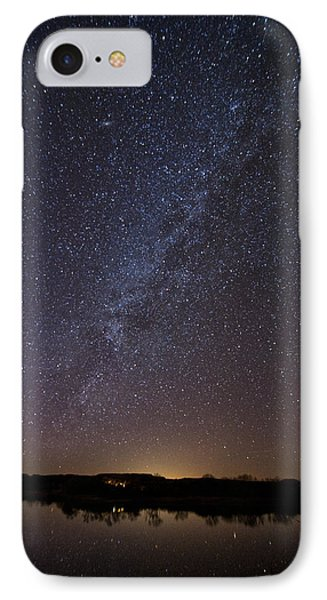 Night Sky Reflected In Lake IPhone Case