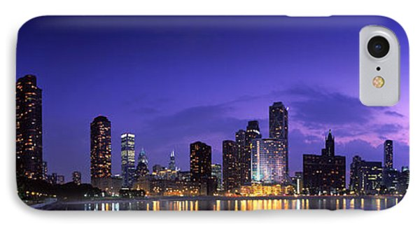 Night Skyline Chicago Il Usa IPhone Case