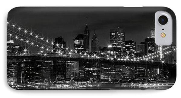 Night-skyline New York City Bw IPhone 7 Case by Melanie Viola