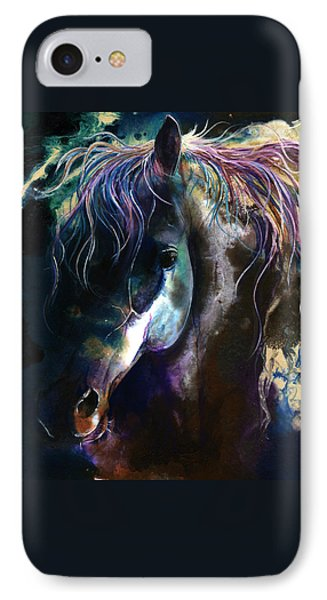 IPhone Case featuring the painting Night Stallion by Sherry Shipley