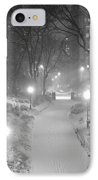 IPhone Case featuring the photograph Night Storm New York by Dave Beckerman