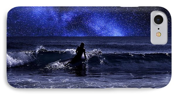 Night Surfing IPhone Case by Laura Fasulo