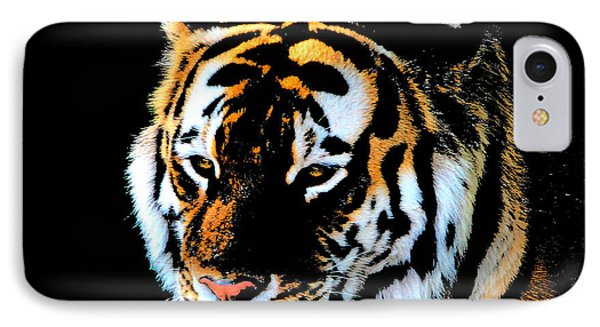 IPhone Case featuring the photograph Night Tiger by John Freidenberg