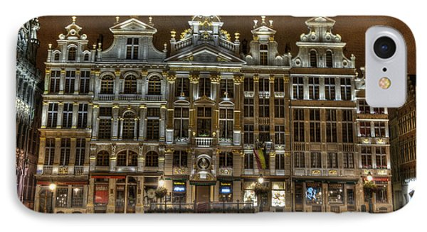 Night Time In Grand Place IPhone Case