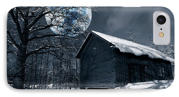 Night Time Landscape During Winter And Snow IPhone Case by Christian Lagereek