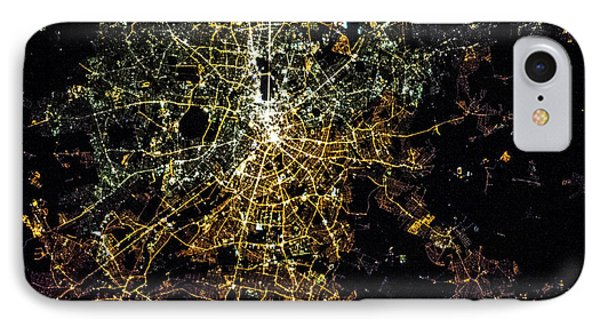 Night Time Satellite Image Of Berlin IPhone Case