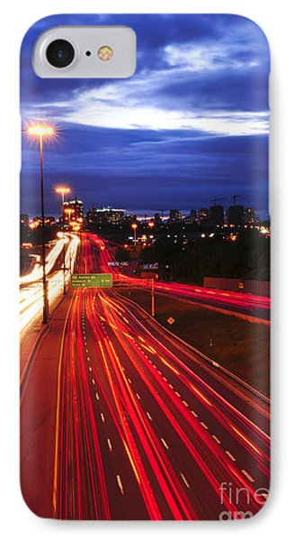 Night Traffic Phone Case by Elena Elisseeva