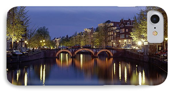 Night View Along Canal Amsterdam The IPhone Case
