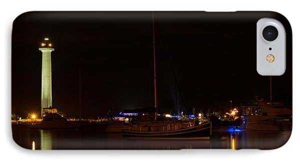 Night View Of Put-in-bay IPhone Case by Haren Images- Kriss Haren