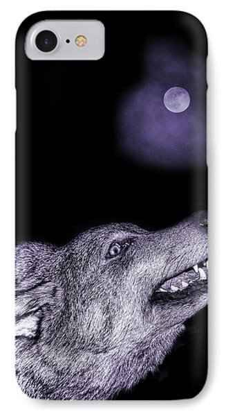 Night Wolf IPhone Case by Angel Jesus De la Fuente