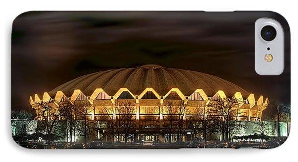 night WVU basketball Coliseum arena in IPhone Case by Dan Friend