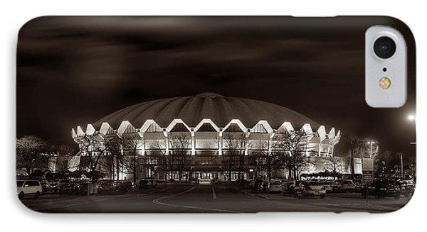 night WVU Coliseum basketball arena IPhone Case by Dan Friend