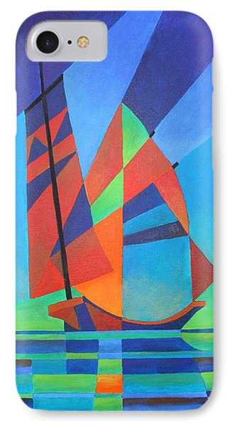 IPhone Case featuring the painting Nightboat by Tracey Harrington-Simpson