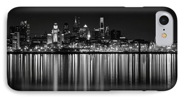 Nightfall In Philly B/w IPhone Case by Jennifer Ancker
