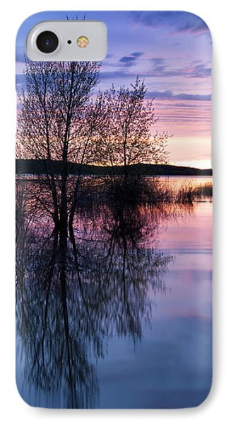 Nightfall Reflection  IPhone Case by The Forests Edge Photography - Diane Sandoval