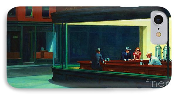 Nighthawks IPhone Case by Pg Reproductions