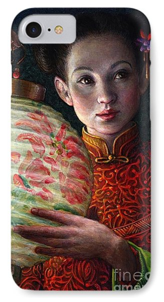 IPhone Case featuring the painting Nightingale Girl by Jane Bucci