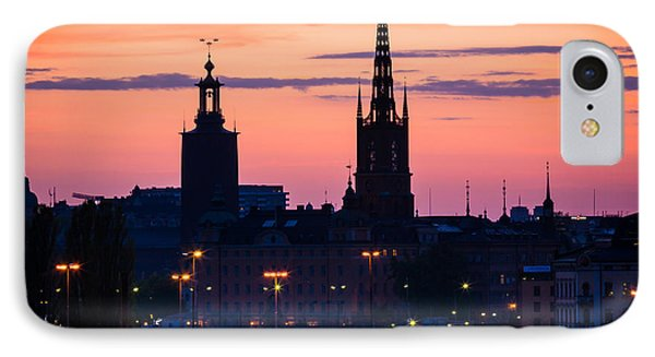 Nightsky Over Stockholm Phone Case by Inge Johnsson