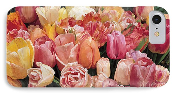 IPhone Case featuring the painting Nikki's Tulips by Tim Gilliland
