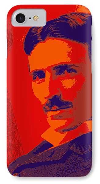 Nikola Tesla #1 IPhone Case by Jean luc Comperat