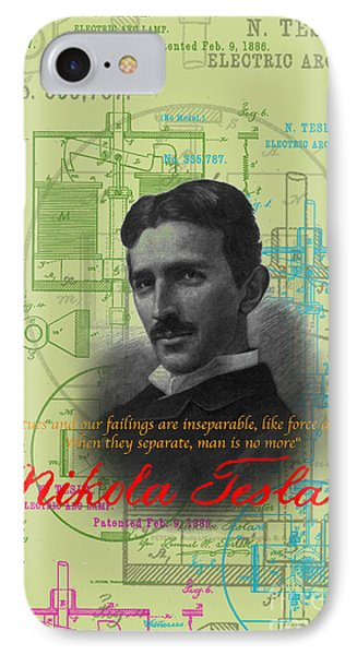 Nikola Tesla #3 IPhone Case by Jean luc Comperat