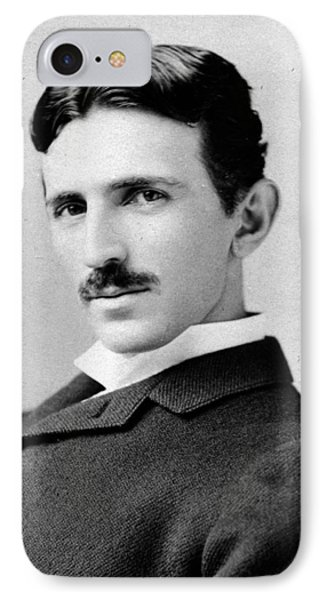 Nikola Tesla Portrait IPhone Case