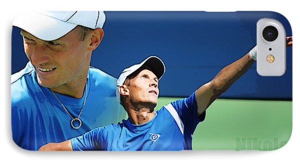 Nikolay Davydenko IPhone Case by Nishanth Gopinathan