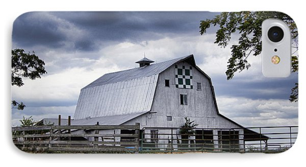 Nine Patch Quilt Barn IPhone Case by Cricket Hackmann