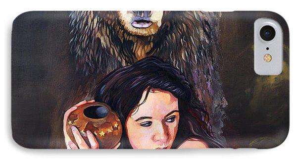 Nine Stars Woman - Bear Medicine IPhone Case by J W Baker